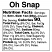 White Rock Granola Oh Snap - Nutrition Facts