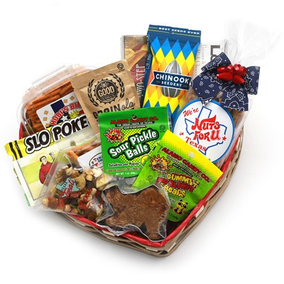 We're Nuts For U in Texas Gift Basket