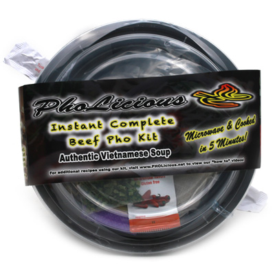 PhoLicious Instant Complete Beef Pho Kit 4 Pack