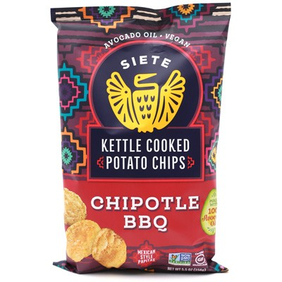 Siete Kettle Cooked Chipotle BBQ Potato Chips