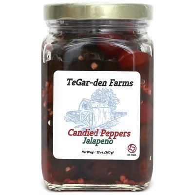 TeGar-den Farms Candied Jalapeño Peppers