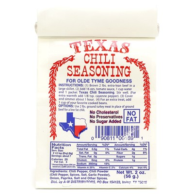 Old Tyme Texas Chili Seasoning