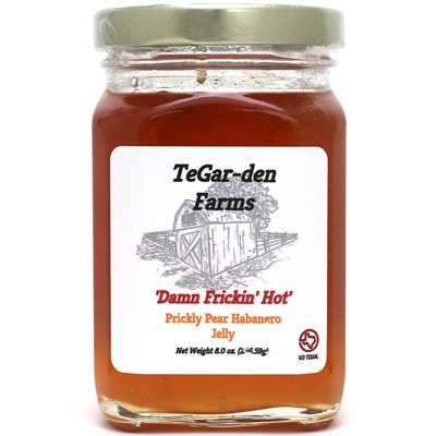 Damn Frickin' Hot Prickly Pear Habanero Jelly