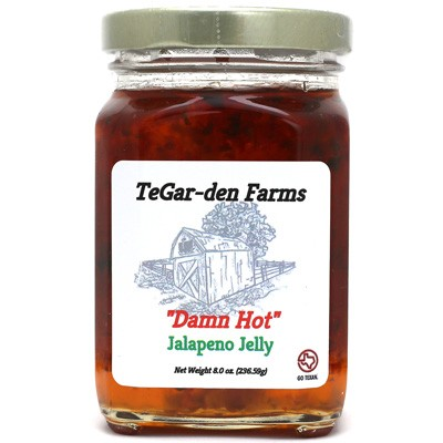 TeGar-Den Farms Damn Hot Jalapeño Jelly